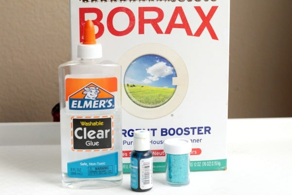 ingredients used in making classic borax slime