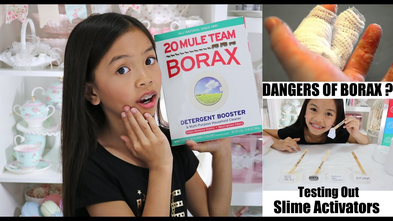 Is borax safe in slime making