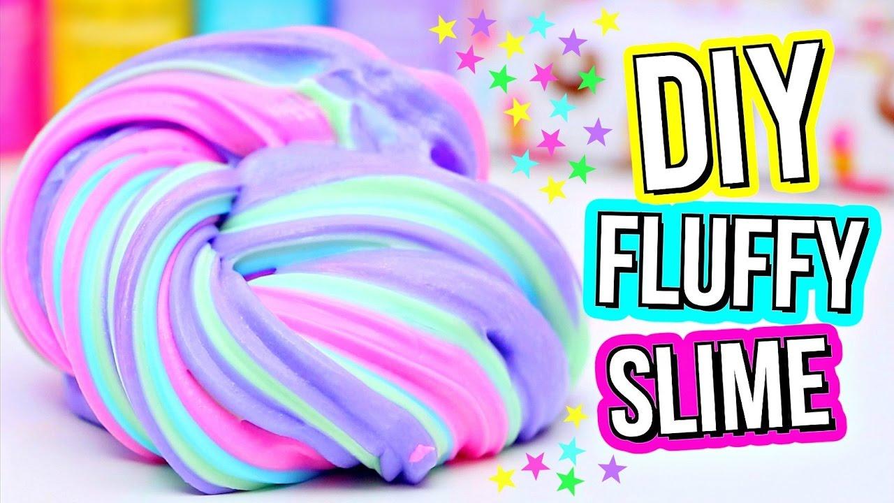 Steps to make fluffy slime diy