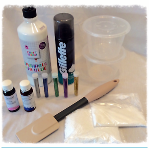 Ingredients used in making a fluffy slime