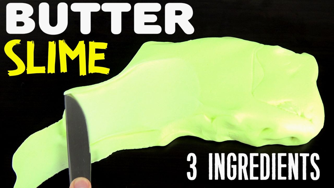how to make butter slime with only 3 ingredients