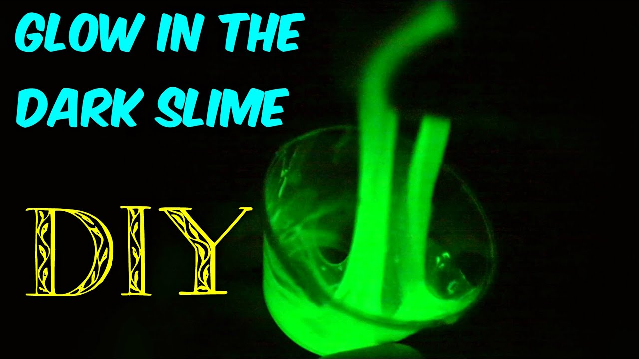 recipe to make glow in the dark slime