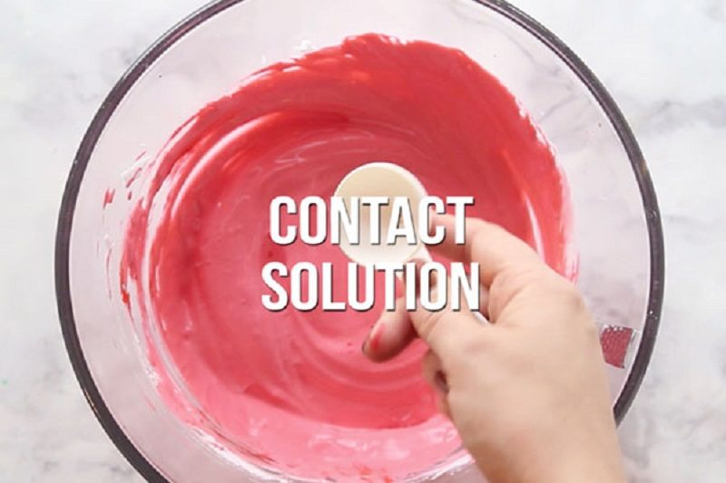 how to make slime with contact solution