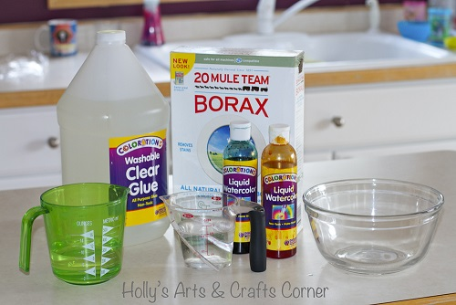 How to make slime using borax powder