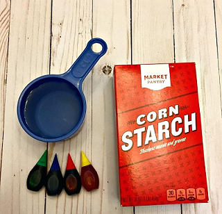 recipe and ingredients to make water slime with cornstarch