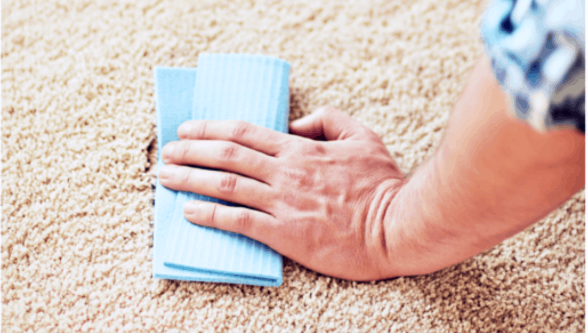 Removing color stain from the carpet